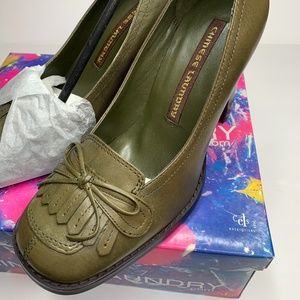 Chinese Laundry Courtney Womens Green Leather Pump